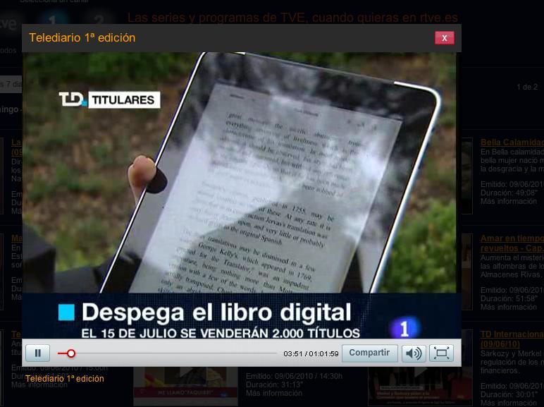 TVE + Libranda + iPad